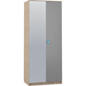 Шкаф 2-х дверный Моби Доминика 451/02 бук песочный/серый шифер