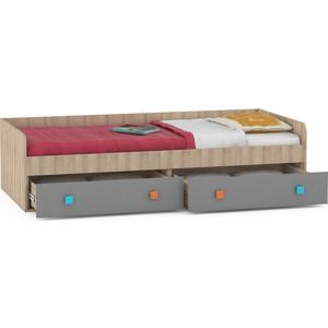 Кровать Моби Доминика 453 бук песочный/серый шифер