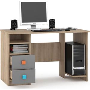 Стол письменный Моби Доминика 458 бук песочный/серый шифер шкаф доминика 450