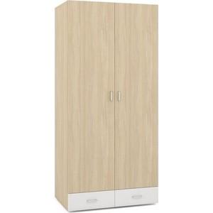 Шкаф 2-х дверный Моби Линда 305 дуб сонома/белый