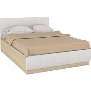 цена Кровать Моби Линда 303 140 п/м дуб сонома/к/з белый онлайн в 2017 году