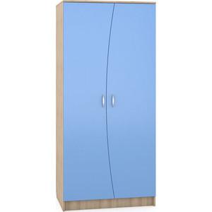 Шкаф Моби Ника 401 бук песочный/капри синий