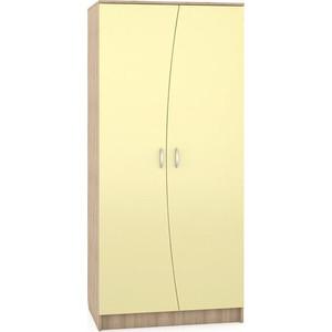 Шкаф Моби Ника 401 бук песочный/лимонный сорбет