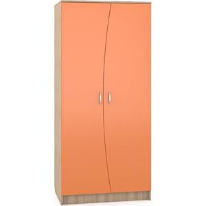 Шкаф Моби Ника 401 бук песочный/оранжевый