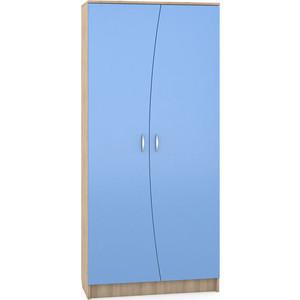 Шкаф Моби Ника 403 бук песочный/капри синий футболка мужская columbia f цвет синий 1839971 403 размер xxl 56 58