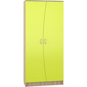 Шкаф Моби Ника 403 бук песочный/лайм зеленый