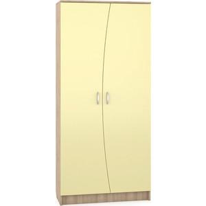 Шкаф Моби Ника 403 бук песочный/лимонный сорбет