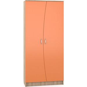 Шкаф Моби Ника 403 бук песочный/оранжевый