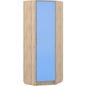 Шкаф угловой Моби Ника 404 бук песочный/капри синий