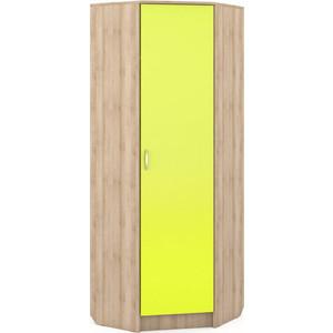 Шкаф угловой Моби Ника 404 бук песочный/лайм зеленый