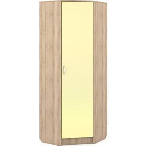 Шкаф угловой Моби Ника 404 бук песочный/лимонный сорбет