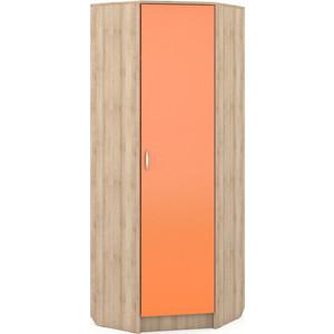 Шкаф угловой Моби Ника 404 бук песочный/оранжевый