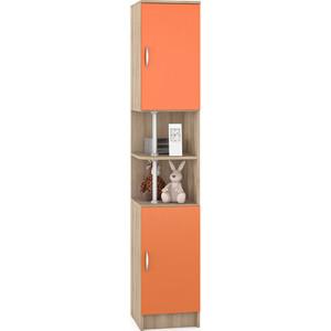 Пенал Моби Ника 407 бук песочный/оранжевый
