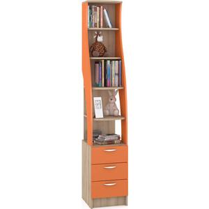 Стеллаж Моби Ника 410 бук песочный/оранжевый