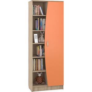Стеллаж Моби Ника 413 бук песочный/оранжевый