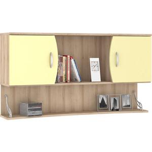 Шкаф навесной Моби Ника 415 бук песочный/лимонный сорбет