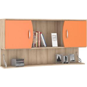 Шкаф навесной Моби Ника 415 бук песочный/оранжевый