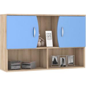 Шкаф навесной Моби Ника 416 бук песочный/капри синий