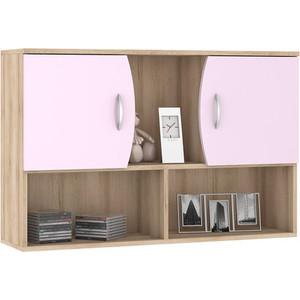 Шкаф навесной Моби Ника 416 бук песочный/лаванда