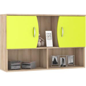 Шкаф навесной Моби Ника 416 бук песочный/лайм зеленый