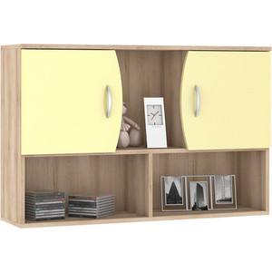 Шкаф навесной Моби Ника 416 бук песочный/лимонный сорбет