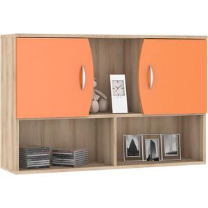 Шкаф навесной Моби Ника 416 бук песочный/оранжевый