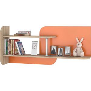Полка навесная Моби Ника 423 бук песочный/оранжевый