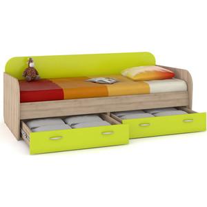 Кровать Моби Ника 424 бук песочный/лайм зеленый