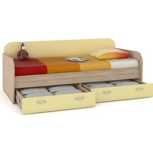 Кровать Моби Ника 424 бук песочный/лимонный сорбет