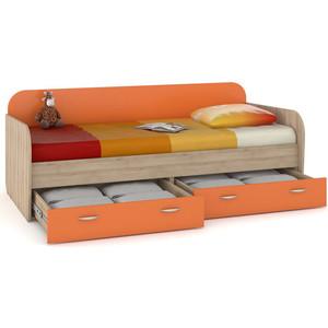 Кровать Моби Ника 424 бук песочный/оранжевый аккумулятор для телефона ibatt hz40 для motorola moto z2 play moto z2 play dual sim xt1710 06