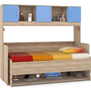 Стол-кровать Моби Ника 428 бук песочный/капри синий