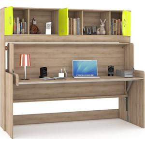 Стол-кровать Моби Ника 428 бук песочный/лайм зеленый