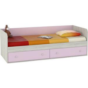 Кровать Моби Тетрис 1 347 дуб белый/лаванда