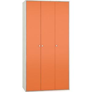 Шкаф Моби Тетрис 1 357 дуб белый/оранжевый цена