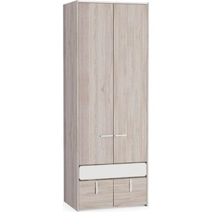 Шкаф для одежды Моби Элен 200 ясень шимо светлый/белый глянец