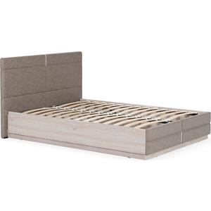 Кровать двойная Моби Элен 160 ясень шимо светлый/савана Латте
