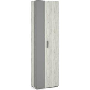 Шкаф Моби Юнона дуб белый CRAFT-серый шифер