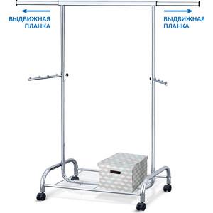 Стойка для одежды Tatkraft BULL сверхмощная с полкой. ширина 100-141 см. высота 150 см. глубина 50 см