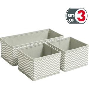Короб Tatkraft WAVE для хранения. набор из 3х текстильных коробок . размер 14X14X10 см 2 шт. 29X14X10 1 штука