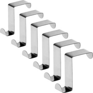Крючки Tatkraft SEGER для дверей и выдвижных шкафов. 6 шт 2.5x6x5.8 см