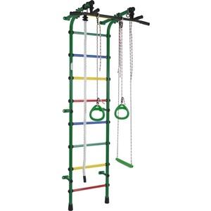 Детский спортивный комплекс Формула здоровья Непоседа зелёный/радуга