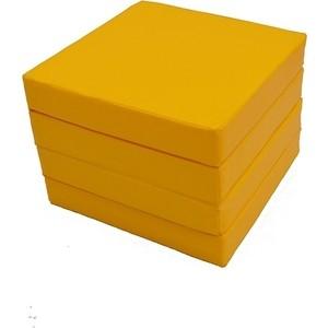 Мат КМС № 11 (100 х 100 10) складной 4 сложения жёлтый (3546)