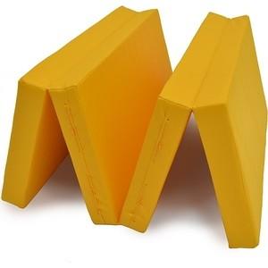 Мат КМС № 5 (100 х 200 10) складной 3 сложения жёлтый (3550)
