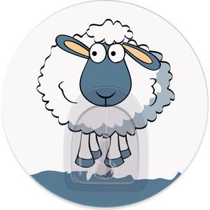 Крючок Tatkraft FUNNY SHEEP MADDY адгезивный, диаметр 8 см, до 3 кг
