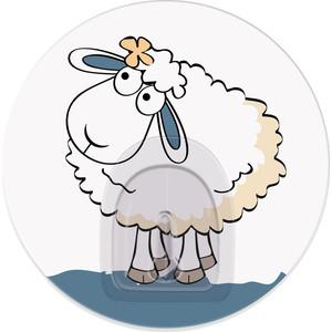 Крючок Tatkraft FUNNY SHEEP LINDA адгезивный, диаметр 8 см, до 3 кг