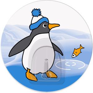 Крючок Tatkraft PENGUINS TINO адгезивный, диаметр 8 см, до 3 кг коврик для ванной комнаты tatkraft penguins 50 х 80 см