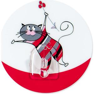 Крючок Tatkraft FUNNY CATS CHUCHO адгезивный, диаметр 8 см, до 3 кг