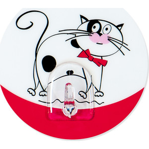 Крючок Tatkraft FUNNY CATS TREUFELDT адгезивый, диаметр 8 см, до 3 кг