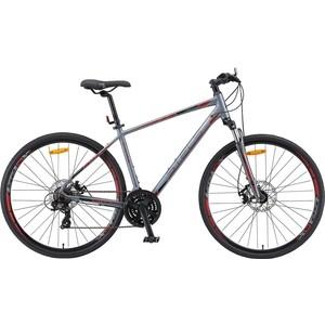 Велосипед Stels Cross 130 MD Gent 28 V010 (2019) 17 Серый велосипед stels xt280 28 v010 2020 23 серый желтый