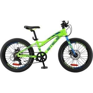 Велосипед Stels Adrenalin MD 20 V010 (2018) 11 Неоновый лайм велосипед stels navigator 410 md 24 21 sp v010 13 неоновый красный